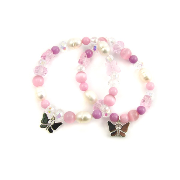 Charm Stretch Bracelet Pippin Kit Pink RRP £14.99 from Burhouse Beads