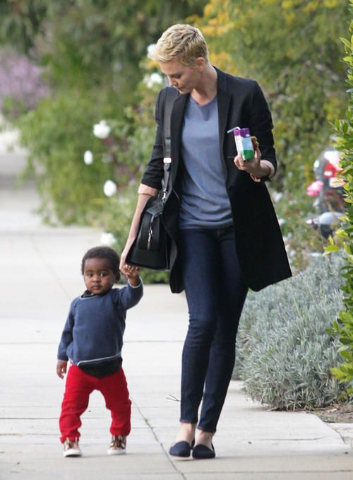25+ best ideas about C... Charlize Theron Children