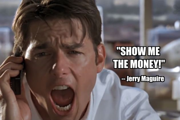a report on the movie jerry maguire Movie info jerry maguire is a man who knows the score as a top agent at sports  management international, jerry is unquestionably a master.