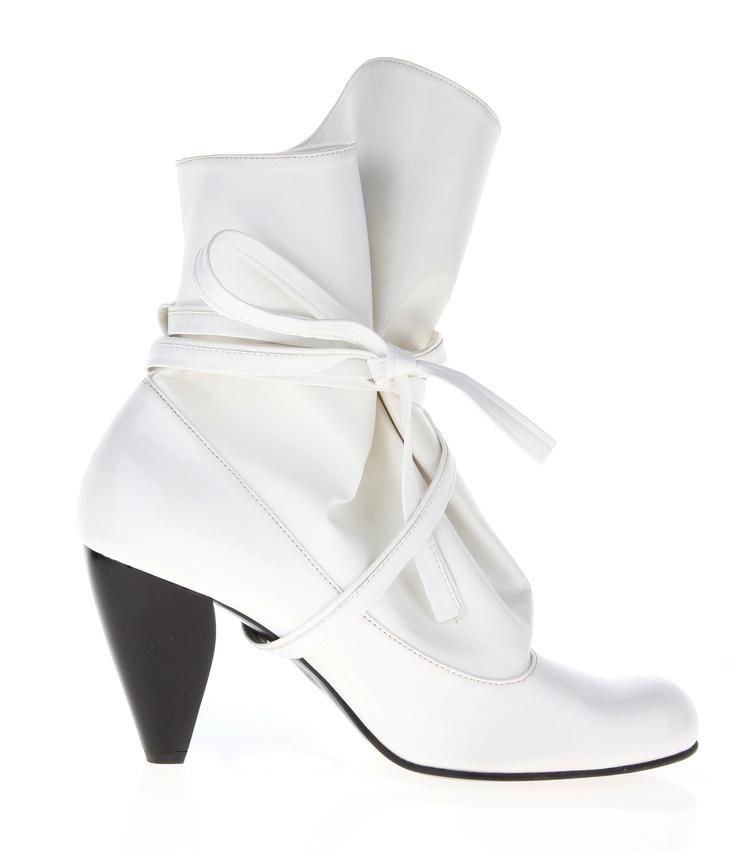 High, fake-leather shoe
