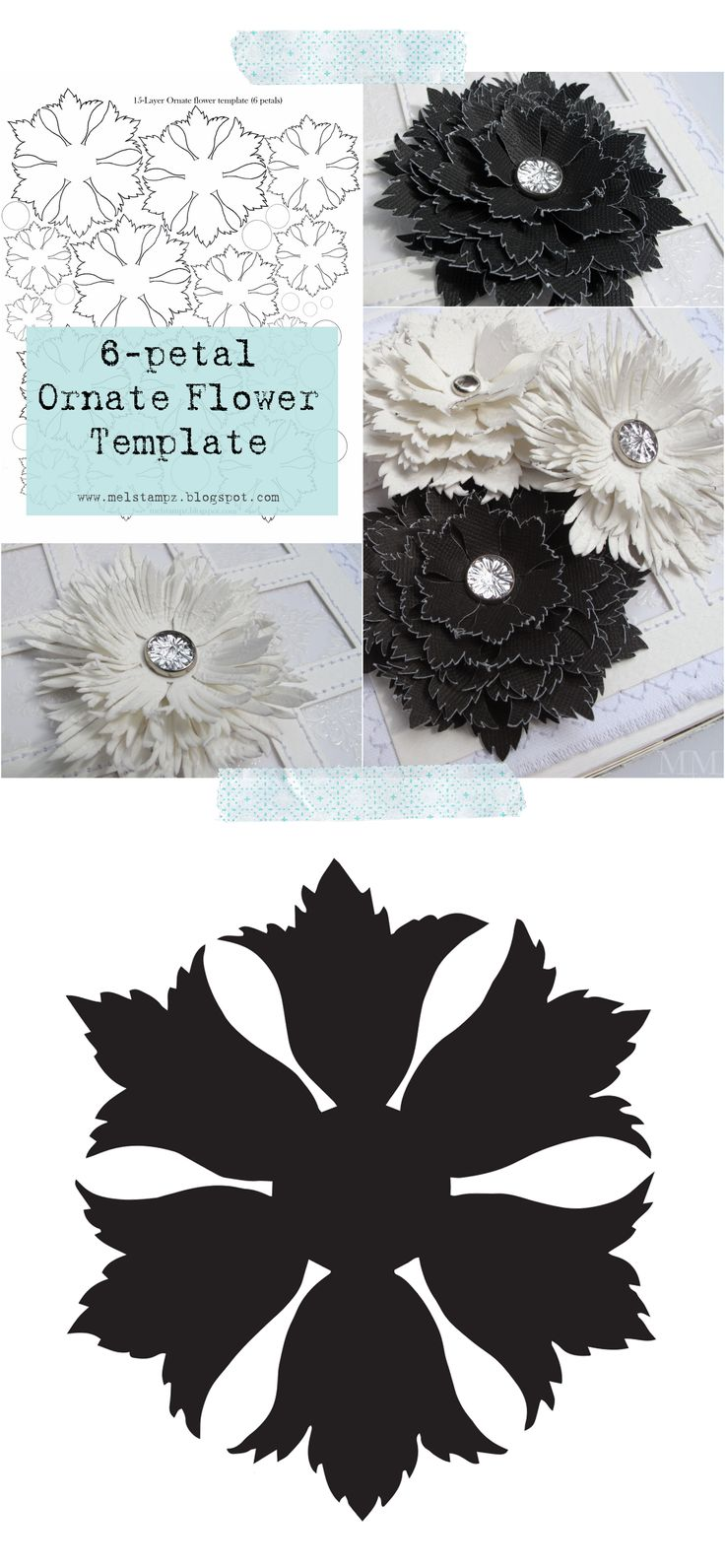 17 best ideas about flower template felt flowers ornate flower cut file svg and template from mel stampz