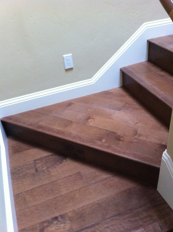 This Is A Look From The Front Of The Staircase. It Looks Good With The