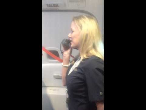 Watch This Hilarious Flight Attendant Make The Greatest Safety Instructions Speech Ever