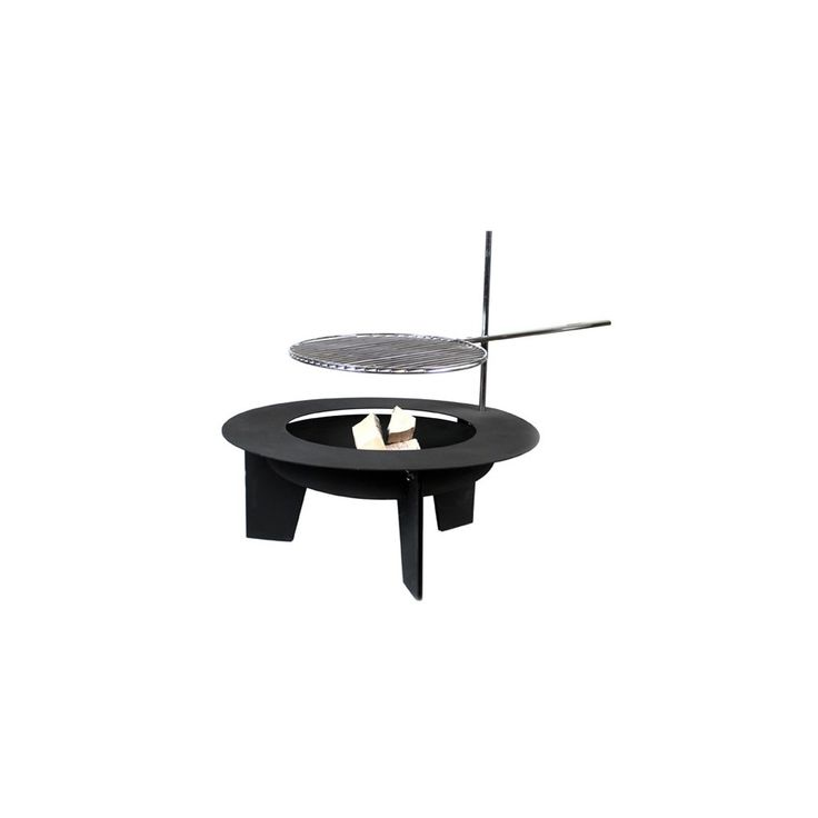 Big, exclusive swivel grill with a fireplace. Height of the grate is adjustable.