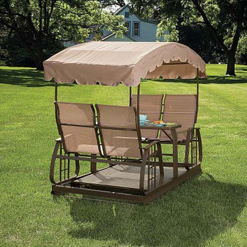 Sears Garden Oasis Four Person Glider Swing Replacement Canopy $79.99