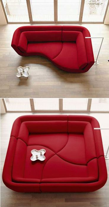funky yet highly functional sectional by Ligne Roset called the Yang. Cozy.  Oh my
