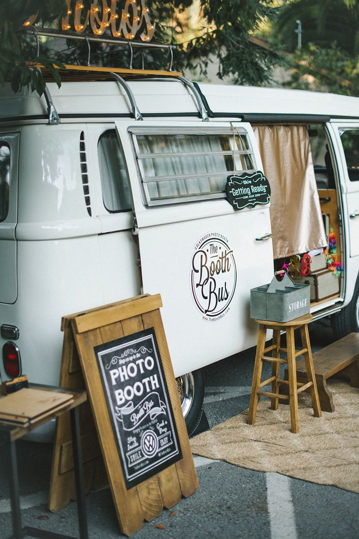 Unique Vintage Volkswagen Bus Photo Booth based in Northern California- serving Carmel, Santa Cruz, San Francisco, Marin, Napa and Sonoma. The Booth Bus is the life of every wedding, party, and corporate event!