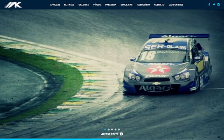 A great sport themed website style: Allam Khodair #website #design