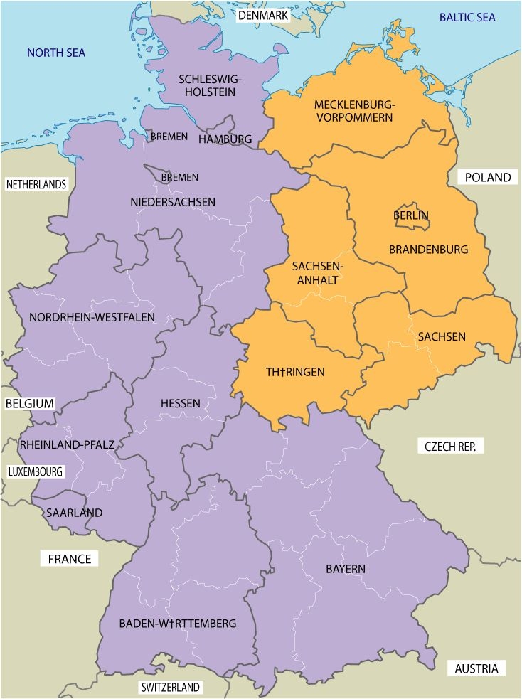 Map Of East And West Germany East & West Germany | Maps | Map, Berlin wall, History of germany