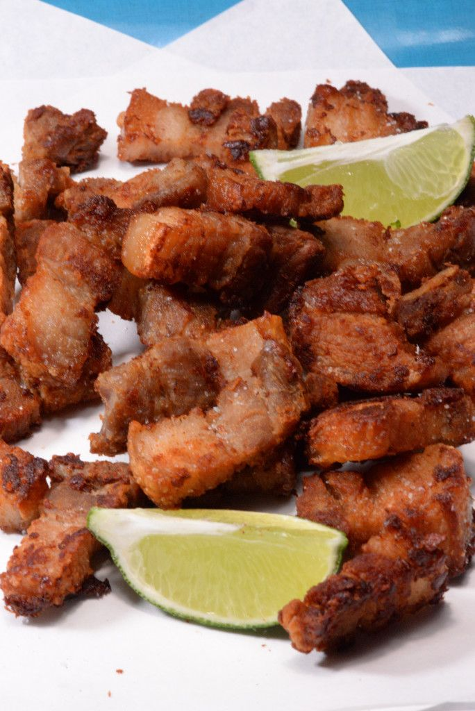 Honduran chicharones, yup fried pork crackling. This recipe is braised and then fried in its own rendered fat, need I say more?