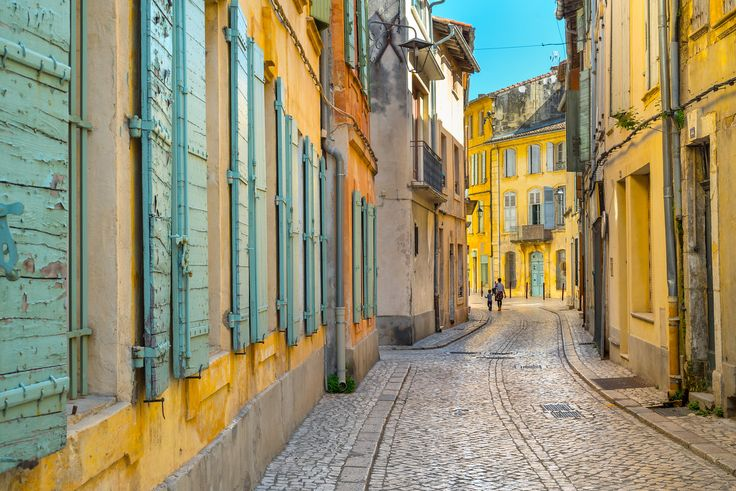 The small village of Tarascon, France - so colorful and bright