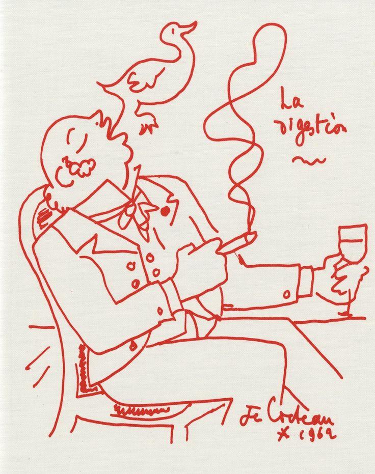 Jean Cocteau ne vit pas la sortie de Recettes pour un ami, livre du cuisinier Raymond Oliver qu'il avait illustré, publié en 1964 par la Galerie Jean Giraudoux à Paris.