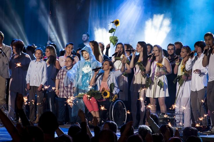 Koncert Razem #MimoWszystko z udziałem gwiazd, 2012 rok, wielki finał #Kraków #koncert #muzyka   fot. Diamonds Factory