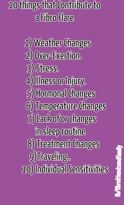 10 things which can trigger a Fibromyalgia Flare.