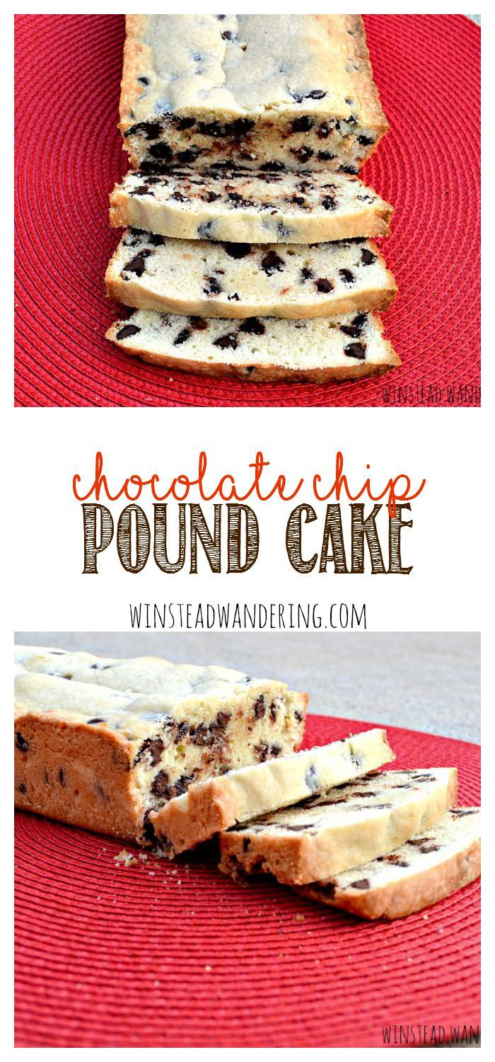 Chocolate chip pound cake is a moist, buttery cake, flecked with chocolate chips and baked to perfection.