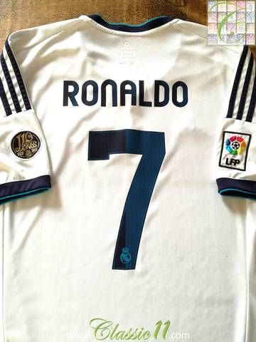 31e2e836875 Official Adidas Real Madrid home football shirt from the 2012 13 season.  Complete with