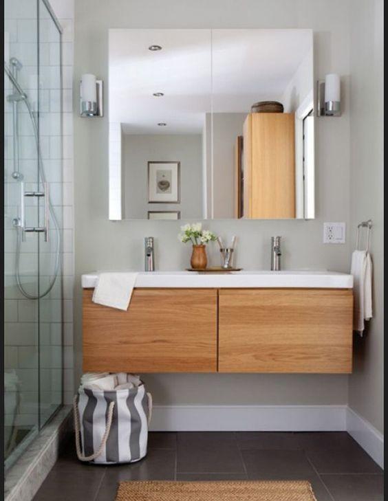 """Résultat de recherche d'images pour """"meuble salle de bain grande vasque style scandinave"""""""