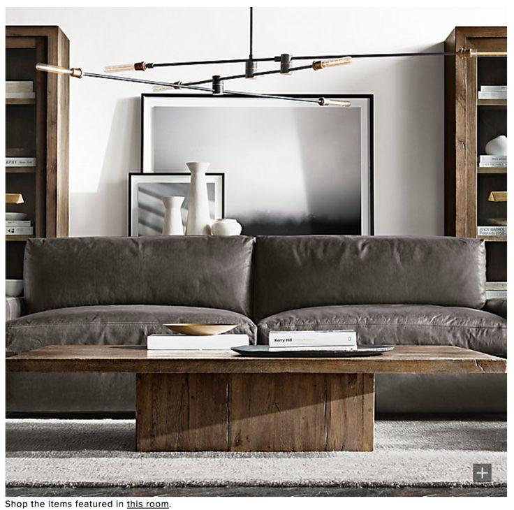 living room idea   Leather sofa decor, Leather sofa, Den ...
