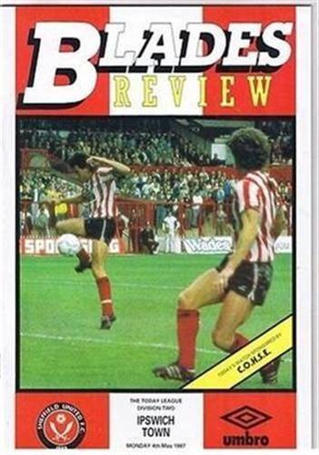 Sheffield United V Ipswich Town 04 05 87 Bramall Lane Football Programme | eBay