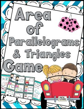 Calculating the area of parallelograms & triangles game. Contents:15…