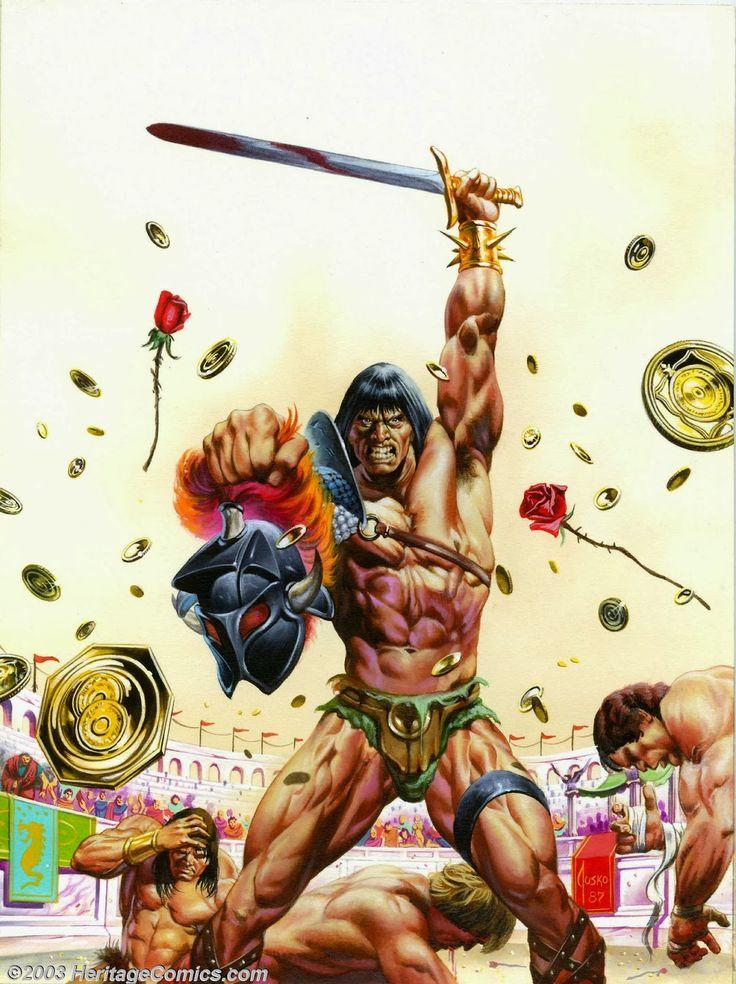 Savage Sword of Conan The Barbarian / Nº147 / 1987 (Joe Jusko)