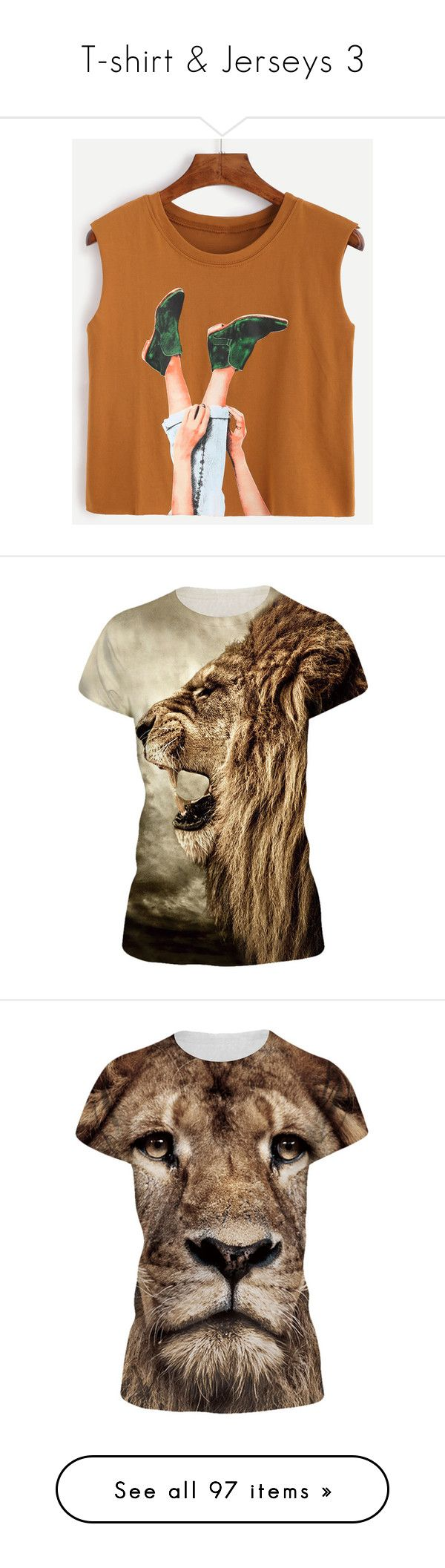 """""""T-shirt & Jerseys 3"""" by michal100-15-4 ❤ liked on Polyvore featuring tops, camel, cami top, brown crop top, brown cami top, cut-out crop tops, cropped cami, t-shirts, brown and crew top"""