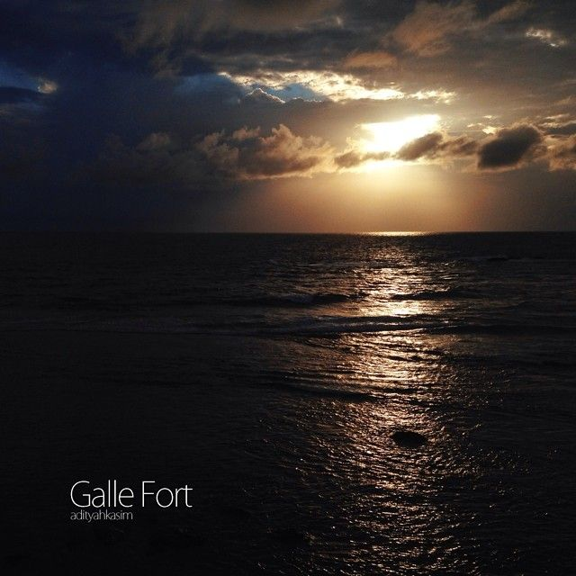 """""""Meeting you was fate, becoming your friend was a choice, but falling in love with you i had no control over."""" Galle fort, Galle, Seylon  #sunset #fort #beach #Galle #seylon #traveller #getlost  Fell deeply in love """"Let's get lost"""""""