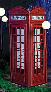 This London Phone Booth allows you to bring London to your party. The authentic looking printed cardboard phone booth measures 7 feet 4 inches high.
