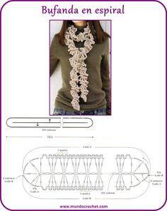 Bufanda crochet espiral
