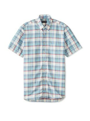 74% OFF Gitman Blue Men's Vintage Check Short Sleeve Sportshirt (Blue Multicolor)