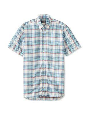 70% OFF Gitman Blue Men's Vintage Check Short Sleeve Sportshirt (Blue Multicolor)