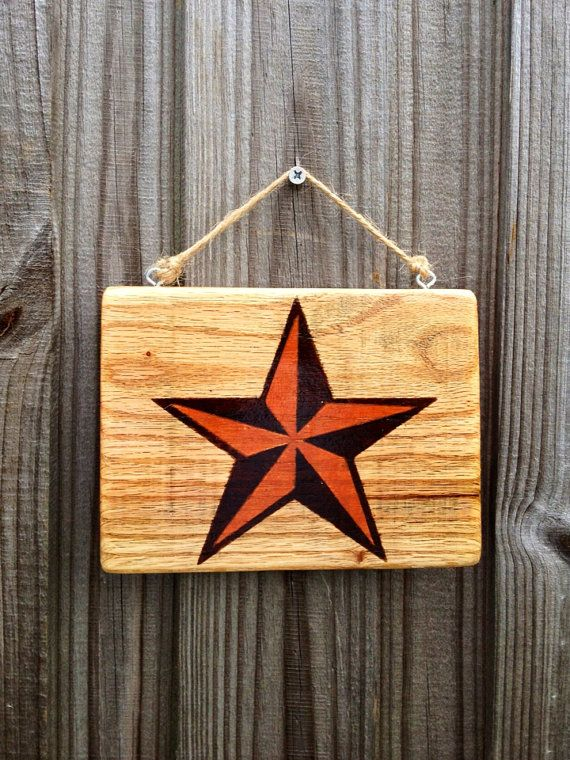 Small Nautical Wall Decor : Reclaimed pallet wood nautical star small hanging wall decor