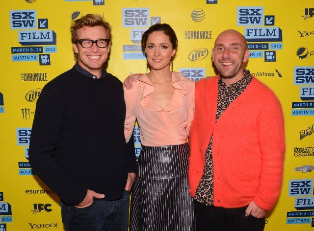 Simon Baker, Rose Byrne and Dan Mazer at event of I Give It a Year (2013)