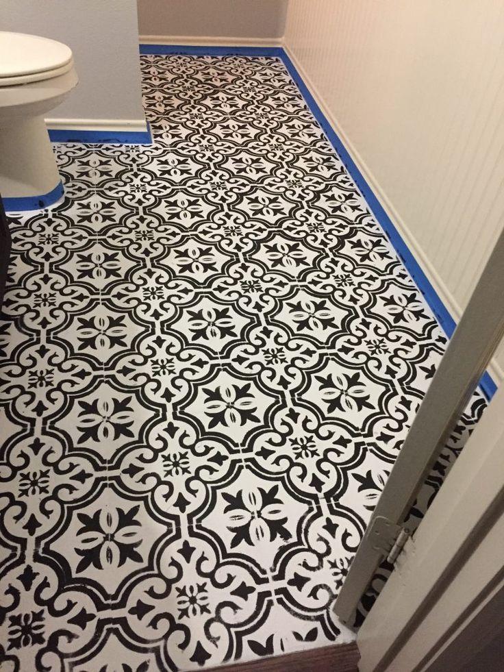 Best 25 bathroom stencil ideas on pinterest hall - How do you tile a bathroom floor ...