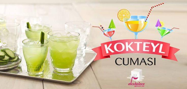 """Eğlencenin tadı bugün Kokteylcuması'nda sizlerle, """"CUCUMBER COOLER"""" kokteylini paylaşıyor!   • 4 cl Cin • 4-5 Salatalık Dilimi • Yarım Lime • 5-6 Nane Yaprağı • Yeterince Tonik • Beyaz Şeker  Shakera nane yaprakları, cin, yarım lime'ın suyu ve damak tadınıza göre şekeri koyup tokmakla hafifçe ezin. Salatalık dilimlerini de shakera ekleyip biraz çalkalayın. Bardağa döktüğünüz kokteylinizin üstüne tonik ekleyin, hafifçe karıştırıp servis edin."""