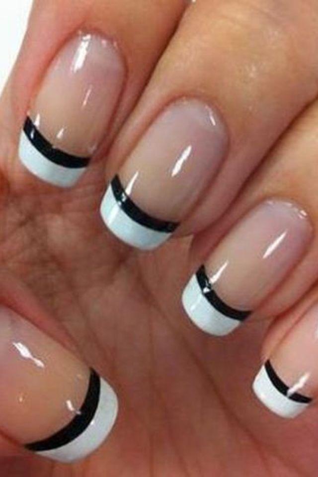 French manicure designs black
