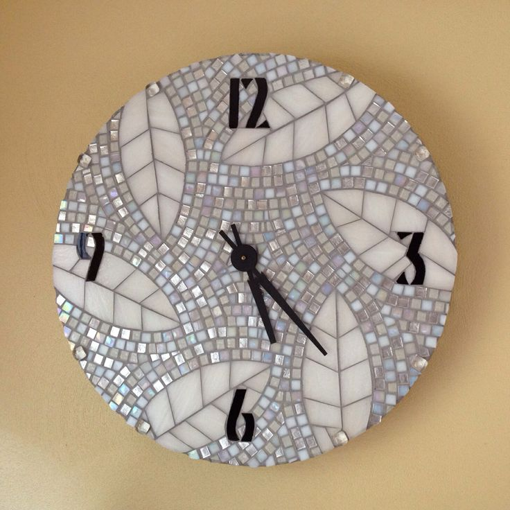 """Pieces of Time Mosaic Clock, 2' diameter, 3"""" thick"""