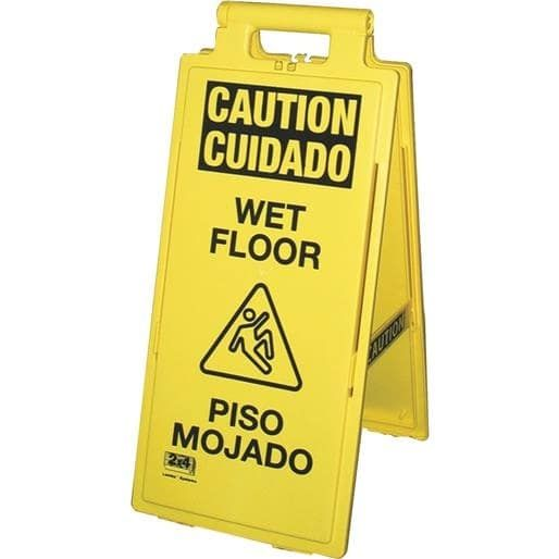 Impact Prod. Wet Floor Sign Eng/Span 24106-90 Unit: Each, Yellow