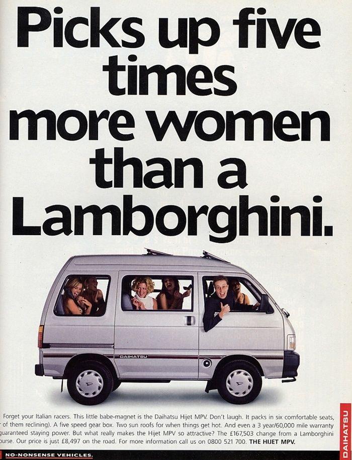 Daihatsu Hijet - Pick Up Five Times More Women Than a Lamborghini. The Daihatsu Hijet is a microvan and pickup truck produced by the Japanese automaker Daihatsu. Despite th...