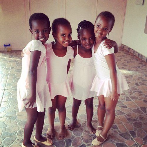 Little Black Ballerinas!: Girl, City Art, Beautiful, Rwanda, Ballerina, Ballet, Dance, Photo, Kid