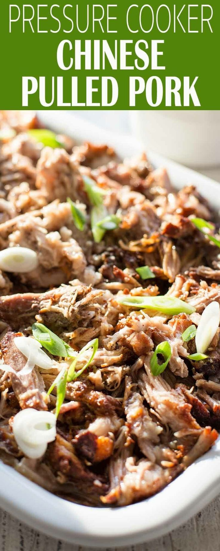 Chinese Pulled Pork in the pressure cooker! This is a sweet and spicy twist on pulled pork, perfect for piling on buns, adding to tacos, or making traditional Chinese steamed buns. #bbq #PulledPork #PressureCooker #InstantPot #pulledporkrecipefriedrice