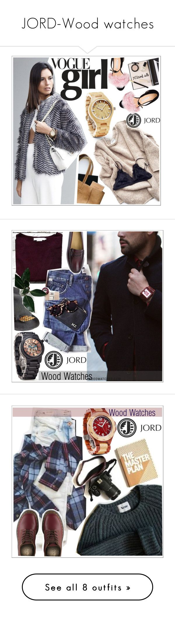 """""""JORD-Wood watches"""" by teoecar ❤ liked on Polyvore featuring jord, Nuevo, Fieldcrest, Prada, Bionda Castana, Justine Hats, G.H. Bass, Dr. Martens, Nuuna and Dsquared2"""