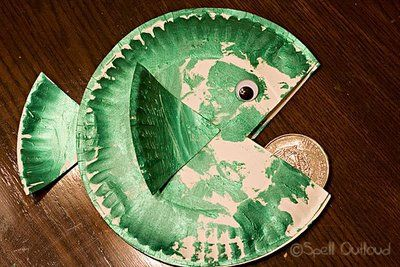 Making this for our kids program at church for the story of the coin in the fish's mouth.
