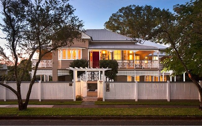 Divine Renovations Beautiful Queenslanders #Queenslander #Home #Design #Lights #Street View #Gorgeous