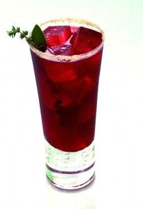 """This """"Pass The Turkey"""" cocktail combines Wild Turkey, apple cider, and cranberry jelly."""