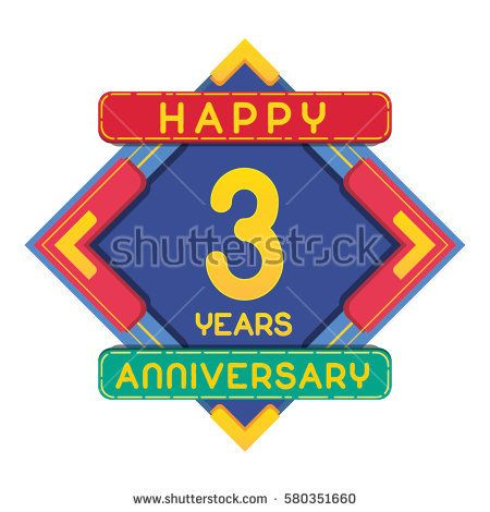 3 Years Anniversary Celebration Design.