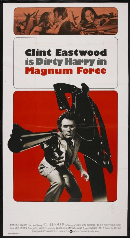 Magnum Force 3 sheet movie poster. Clint Eastwood as Dirty Harry