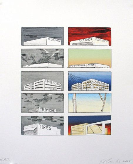 Course of Empire (colored edition) 2005 by Edward Ruscha