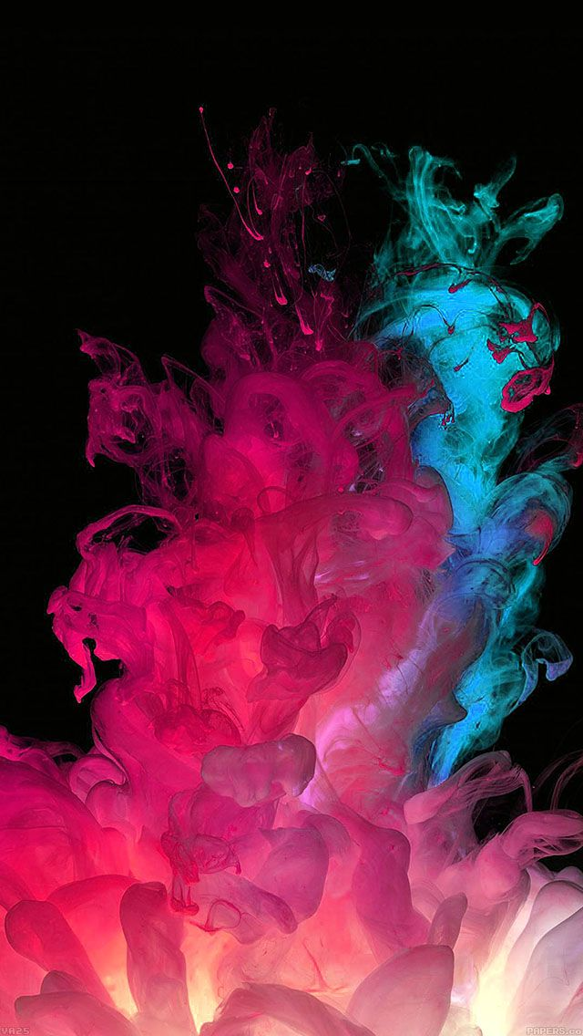 Lg G3 Default Stock Colorful Smoke Explosion Iphone 5 Wallpaper