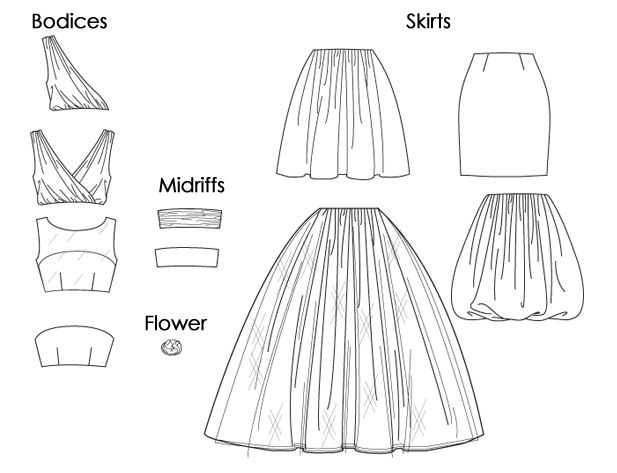 Robes McCall's M6466 - 4 hauts et 4 bas à combiner